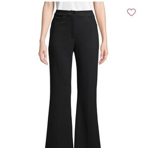 M MISSONI Black Mid-Rise Wide-Leg Trousers